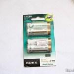 Pacote com 4 Baterias AA Recarregáveis NiMH 2100mAh Sony CycleEnergy Genuínas (Genuine Sony CycleEnergy 2100mAh Ni-MH Rechargeable AA Batteries (4-Pack))