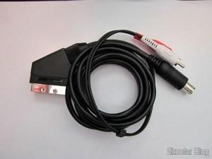 Cabo de áudio e vídeo SCART RGB + Som RCA para Mega Drive III da Tectoy, Mega Drive II japonês e europeu, e Sega Genesis 2 e 3 (Sega Megadrive/Genesis 2 AV RGB Scart cable + RCA sound)