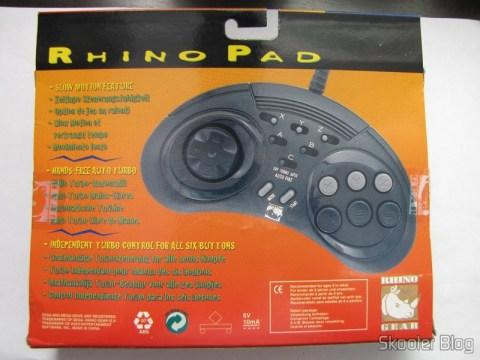 Controller 6 Botões ASCII 'Rhino' para Mega Drive (Mega Drive ASCII 'Rhino' 6 button controller) in your mailbox
