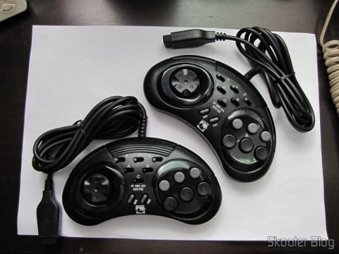 Controladores de 6 Botões ASCII 'Rhino' para Mega Drive (Mega Drive ASCII 'Rhino' 6 button controller)