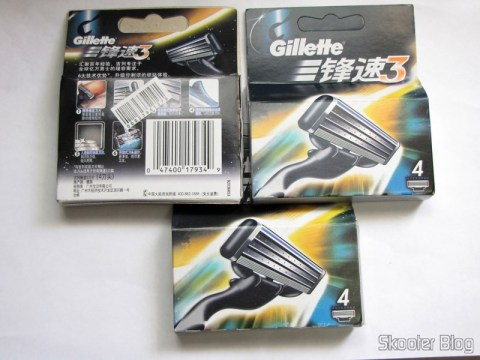 12 Cartridges Mach 3 Gillette Revolucionario with triple lâmina (Pack of 4) (Gillette Mach3 Revolutionary Triple-Blade (4-Pack)) in their packaging