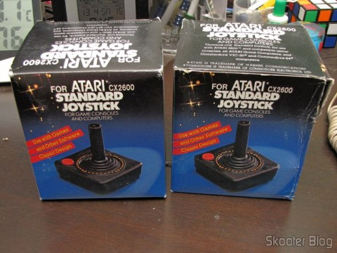 2 Joysticks the Atari 2600 New (New 2x Atari 2600 Joystick Controllers / 30 day Warranty OEM), in their respective boxes