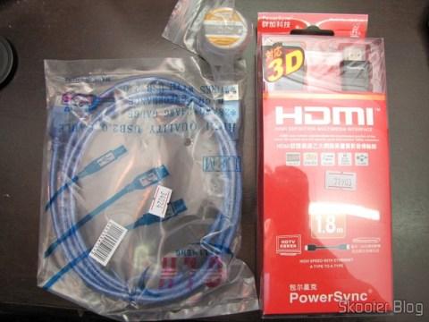 Cabo HDMI M-M PowerSync Genuíno de Alta Velocidade, 3D, Ethernet 2160p com 1,8 metros, Cabo de Extensão USB 2.0 com 1,80 metros e Pasta de Solda LodeStar 50g