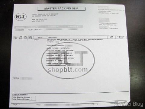 Invoice do Zotac ZBOX ID83 Core i3-3120M 2.5GHz Intel HM76 DDR3 Wi-Fi A&V Gigabit Ethernet Mini PC Barebone System (ZBOX-ID83-U)