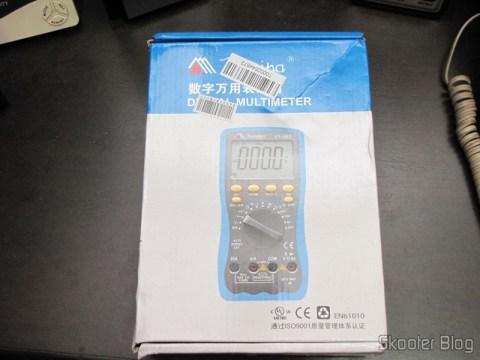 "Embalagem do Multímetro Digital Minipa ET-997 com LCD de 3.0"" (Tensão + Corrente + Resistência + Temperatura / 1*6F22) (ET-997 3.0"" LCD Handheld Digital Multimeter (Voltage + Current + Resistance + Temperature / 1*6F22))"