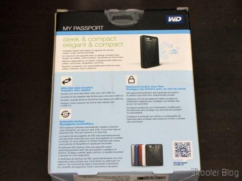 Disc Packaging Hard (HD) Externo Portátil WD My Passport 2TB USB 3.0 Preto (WD My Passport 2TB Portable External Hard Drive Storage USB 3.0 Black)