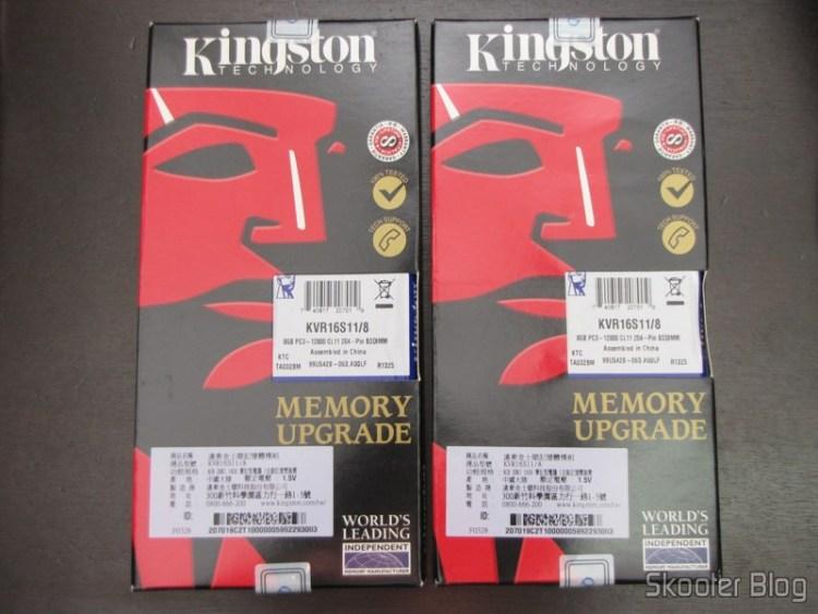 Embalagem dos Módulos de Memória RAM de Laptop (Notebook) Kingston 16GB (2x8GB) SODIMM DDR3 1600 MHz CL11 (Kingston 16GB 16G (2x 8GB) DDR3 1600 MHz SODIMM Laptop Notebook Memory RAM CL11)