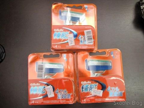 3 Embalagens com 4 Cartuchos de Lâminas de Barbear Gillette Fusion (Gillette Replacement 5-Blade Razor Cartridges (4 PCS))