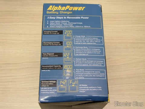 Embalagem do Carregador de Pilhas La Crosse Technoly Alpha Power BC1000 (La Crosse Technology Alpha Power Battery Charger, BC1000)