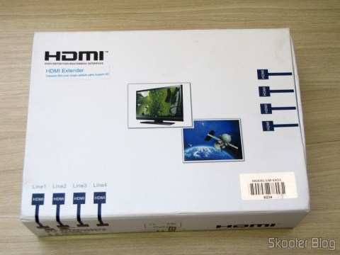 Transmitter Set + Receiver Extender HDMI-LINK MI LM-EX11 (LINK MI LM-EX11 HDMI Extender Transmitter + Receiver Set - Black) in your mailbox