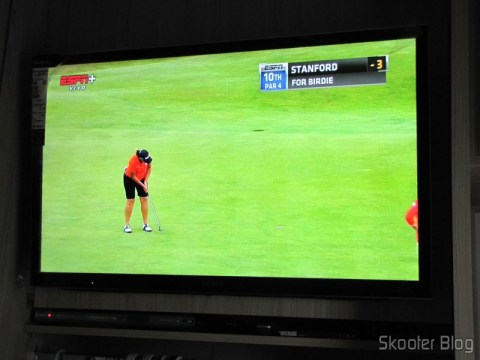 ESPN image obtained with the Transmitter Set + Receptor Extensor de HDMI LINK-MI LM-EX11 (LINK-MI LM-EX11 HDMI Extender Transmitter + Receiver Set - Black) no ponto escravo, 480icom Transmitter Set + ReceptoReceiver Extender HDMI-LINK MI LM-EX11MILINK MI LM-EX11 HDMI Extender TransmitteriveReceiver Setk) Blackntthe slave point