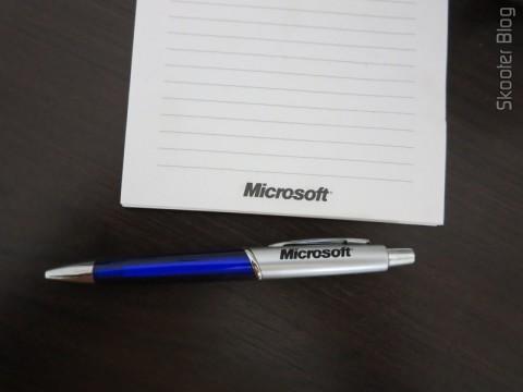 Bloco e Caneta Microsoft