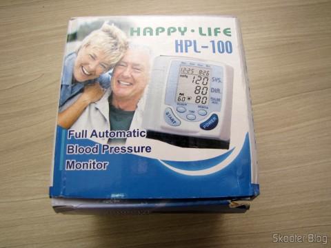 Embalagem do Monitor de Pressão Arterial de Pulso Totalmente Automático (Fully Automatic Wrist Blood Pressure Pulse Monitor)