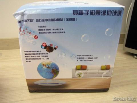 Globe Floating Maglev UFO Cheerlink 106mm c / Generator Anion (CHEERLINK 106mm UFO Maglev Floating Globe w/ Anion Generator – Blue + Black (US Plug / AC 100 ~ 240V)), on its packaging