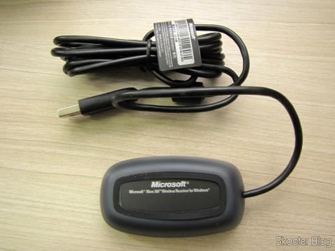 O receptor que acompanha o Controlador sem Fio de XBox 360 para Windows com Receptor Novo e Lacrado (Brand New & Factory Sealed Xbox 360 Wireless Controller For Windows Black)