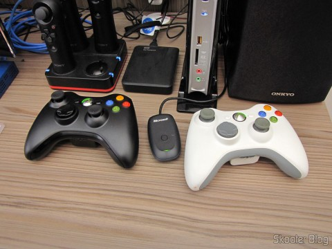 WIRELESS Controller for XBox 360 Receiver for Windows with New and Sealed (Brand New & Factory Sealed Xbox 360 Wireless Controller For Windows Black) side of the USB receiver and the Gambling Control with the USB Receiver for PC / XBox 360 Microsoft 2.4GHz Wireless Original (Genuine Microsoft 2.4GHz Wireless Game Controller with PC USB Receiver for PC/Xbox 360 (Retail Pack))