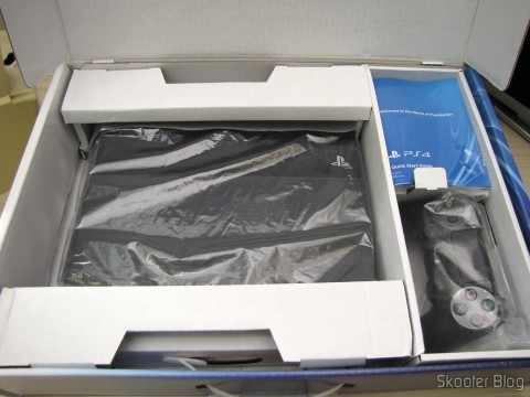 Opening the console Playstation Packaging 4 (PS4)