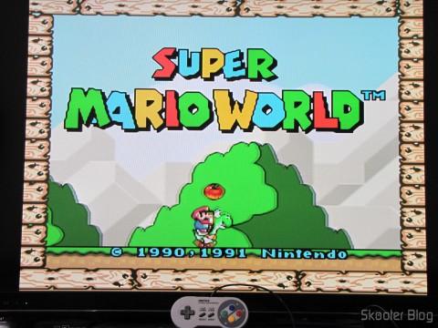Super Nintendo gamepad (SNES) PC Buffalo (Nintendo Super Famicom SNES Gamepad for PC (PC) (BUFFALO)) conectado ao Zotac ZBOX ID83 Core i3-3120M 2.5GHz Intel HM76 DDR3 Wi-Fi A&V Gigabit Ethernet Mini PC Barebone System (ZBOX-ID83-U) and running