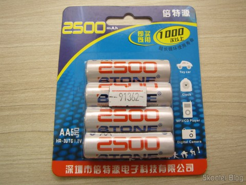 Pack of 4 Rechargeable AA NiMH 1.2V 2500mAh Low Self Discharge BTONE (Rechargeable 1.2V 2500mAh AA Ni-MH Low Self Discharge / LSD Batteries (4-Piece Pack))