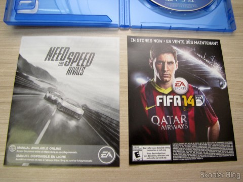 Manuais do Fifa 14 (PS4) (US) e Need For Speed Rivals (PS4) (US)