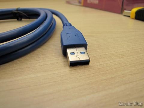 Plug do Cabo Extensão USB 3.0 Macho para Fêmea Azul de Alta Velocidade 185cm (High Speed USB 3.0 Male to Female Extension Cable - Blue (185cm))
