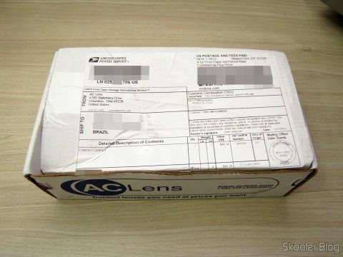 Caixa da AC Lens, com as lentes Cooper Vision Avaira Toric