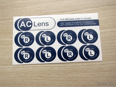 Bumper identify the boxes of contact lenses, toast of AC Lens
