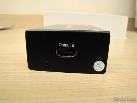 Saída B na Matriz HDMI 1080p LINK-MI LM-MX03 - 4 Entradas / 2 Saídas (LINK-MI LM-MX03 1080p HDMI Matrix - Black (4-In / 2-Out))