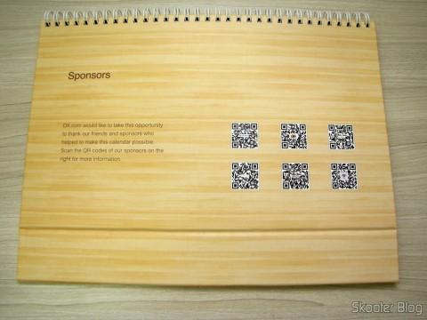 Calendário de Mesa da DX 2014 com Cupons de Desconto nos 12 meses, totalizando US$ 237,00 (DX 2014 Desk Calendar with 12 Months' Coupon Codes (Value USD$ 200)): QR Code dos Patrocinadores