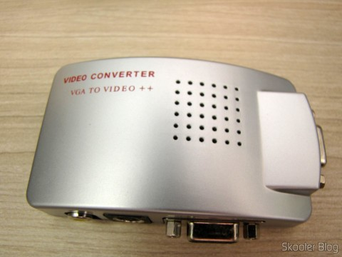 Converter VGA to Composite RCA Video / S-Video e VGA - Prata (VGA to VGA / S-Video / RCA Composite Video Converter - Silver