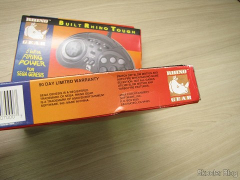 The two controllers 6 Buttons ASCII 'Rhino' for Mega Drive (NEW Sega Genesis 6 Button RHINO PAD controller control) in their sealed packages