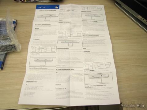 Manual de Instruções do Clip para a Câmera do Playstation 4 (PS4) Oficial Licenciado 4Gamers (Officially Licensed Clip for Playstation 4 Camera (PS4) (4GAMERS))
