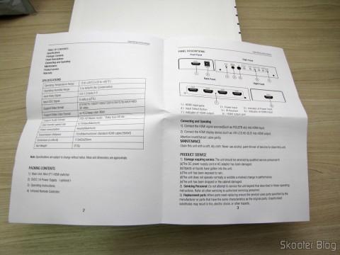 HDMI Switch Instruction Manual w / Remote Control LINK-MI LM-SW04 1080p 3D 5 inputs p / 1 output (LINK-MI LM-SW04 1080p 3D 5 in 1 out HDMI Switch w/ Remote Control - Black)