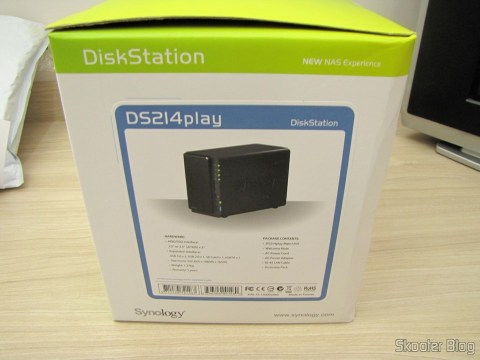Synology America DiskStation 2-Bay Diskless Network Attached Storage (DS214play), on its packaging