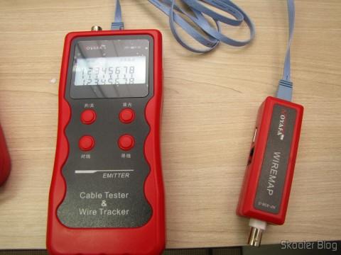 Testador de Cabos de Rede LAN, Telefone, USB, BNC e Firewire com Rastreador de Cabos e Display LCD (Network LCD LAN Cable Tester Phone Wire Tracker RJ45 RJ11 BNC USB Scanner 5E, 6E)