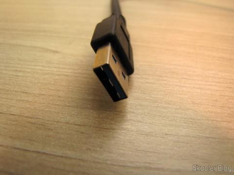 Conector USB 3.0 do Hub USB 3.0 com 4 portas ORICO W8PH4-U3 (ORICO W8PH4-U3 4-HUB USB 3.0 Hub - Black)