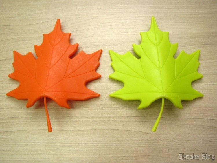 Para-Portas Estilo Folha de Maple Laranja (Maple Leaf Style Door Stopper Guard - Orange) e Para-Portas Estilo Folha de Maple Verde (YSDX-382 Maple Leaf Style EVA Door Stopper - Green)