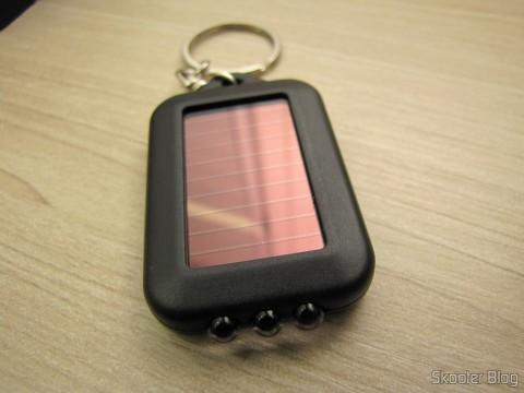 10 Keychain with Mini Flashlight with 3 LED Solar Light as Recarregável