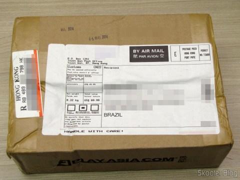 Caixa da Play-Asia com a Câmera do Playstation 4 (Playstation 4 Camera)