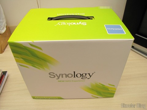 Synology America DiskStation 2-Bay Diskless Network Attached Storage (DS214play) on its packaging