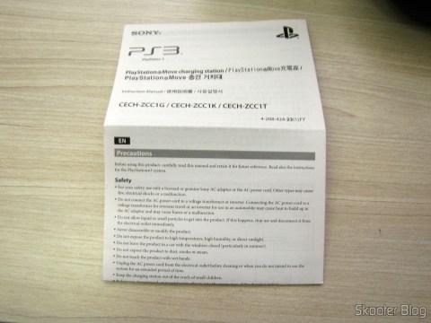 Manual da Playstation Move Charging Station
