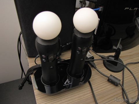Playstation Move Charging Station, em funcionamento