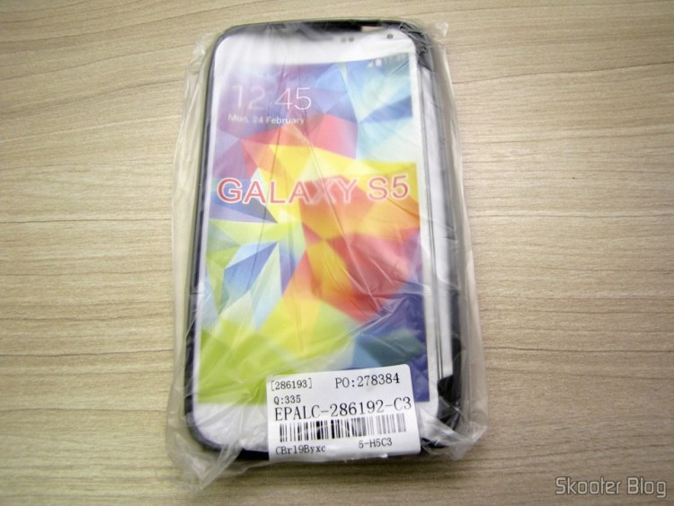 Capa para telefone celular Samsung Galaxy S5 (S Line Anti-skid TPU Soft Back Cover Protective Case for Samsung Galaxy S V / S5 EPALC-286192)