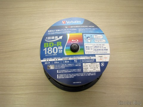 Tube 50 Blu-Ray Recordable BD-R 25GB Verbatim 6X