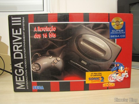 A caixa do Mega Drive III da Tec Toy