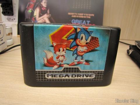 Cartucho Sonic The Hedegehog 2, que acompanha o meu Mega Drive III da Tec Toy