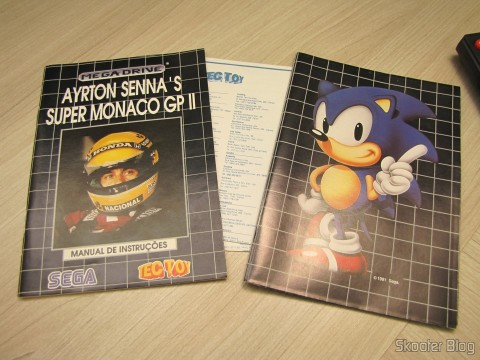 Manuals and booklets that accompany the Super Monaco GP II