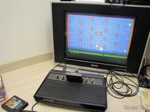 Atari 2600 up with the game Pac Man