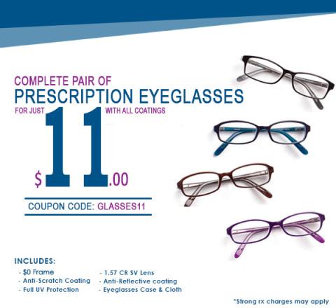 Promoção Goggles4U: par de óculos de grau completo por apenas US$ 11,00