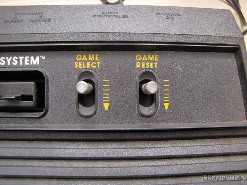 Detail of the keys Select Game and Game Reset Atari 2600 the Polyvox